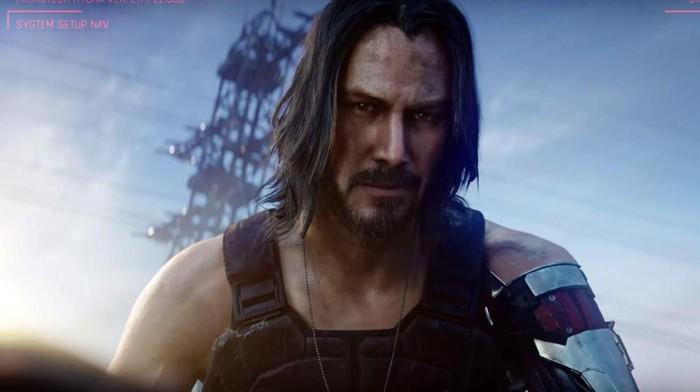 Keanu Reeves saat tampil di Cyberpunk 2077.