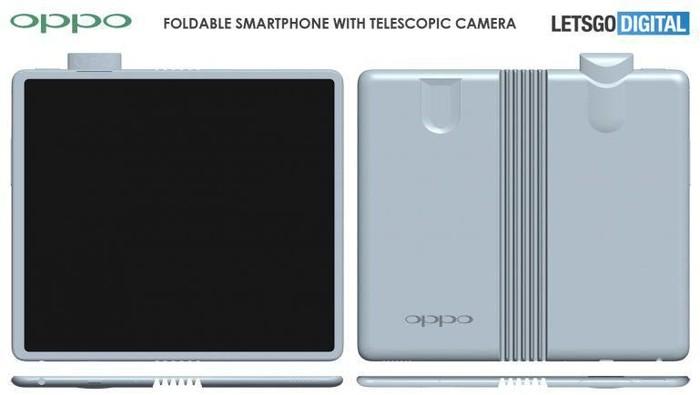 Ponsel layar lipat Oppo dengan kamera pop-up. (Foto: Dok. LetsGoDigital)