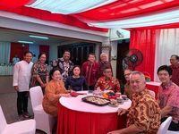 Foto silaturahmi Wayan Koster di rumah Megawati.