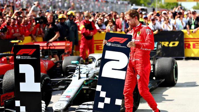 Sebastian Vettel jadi runner up meski finis pertama di GP Kanada (Dan Istitene/Getty Images)