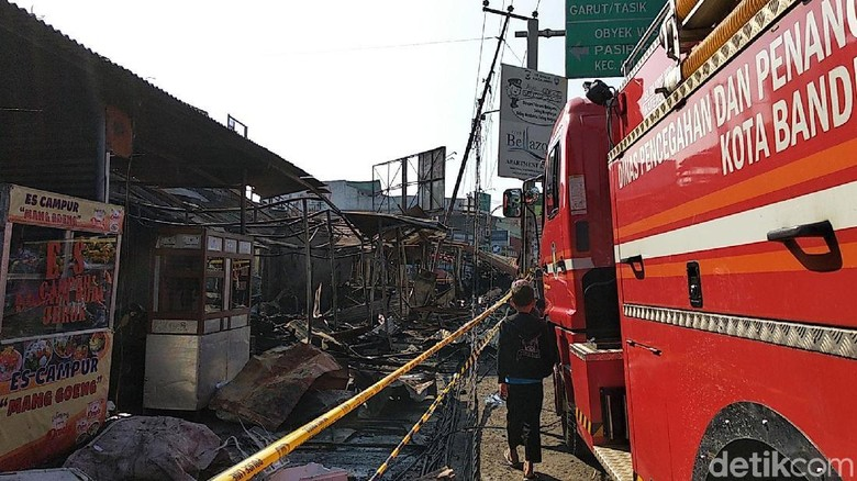 Puslabfor Dilibatkan Selidiki Penyebab Kebakaran Pasar Ujungberung