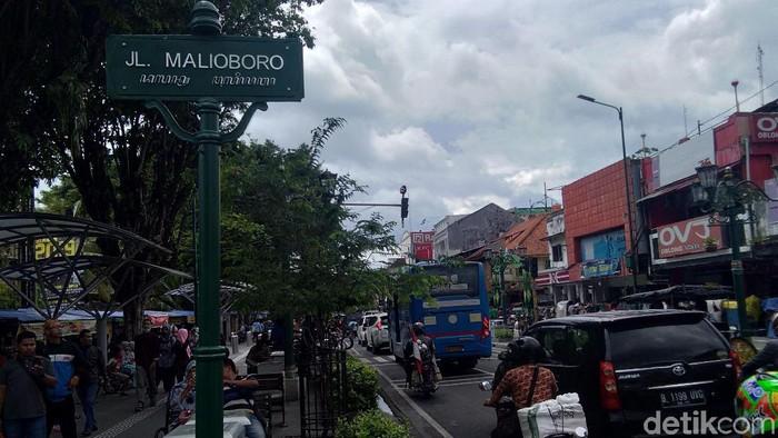 Jalan Malioboro, Yogyakarta, Senin (10/6/2019).