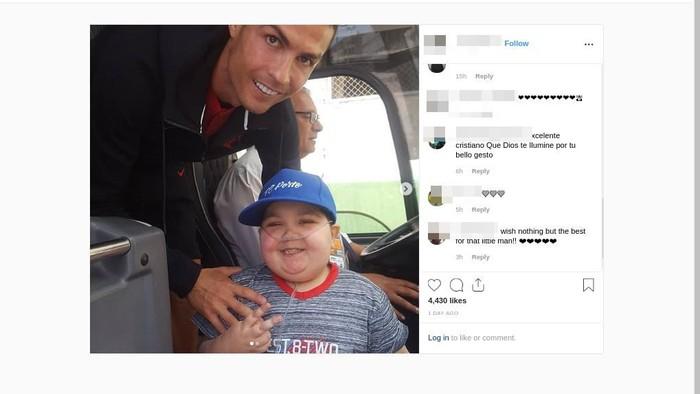 Kisah dari Cristiano dan fans yang menyentuh hati. Foto: Instagram