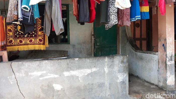 Rumah kontrakan yang ditinggali Sugeng di Semanggi RT 07 RW 05 Solo (Foto: Bayu Ardi Isnanto/detikcom)