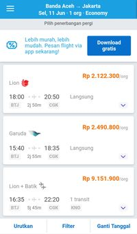 Harga Tiket Banda Aceh-Jakarta Capai Rp 9 Juta