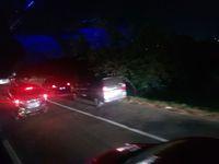 Macet di ruas Tol Cikampek arah Jakarta