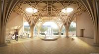 Bagian luar Cambridge Central Mosque ini tampak sama dengan masjid lainnya. Ada taman dan ruang terbuka untuk jamaah yang ingin sekedar duduk atau berdiskusi. (marksbarfield)