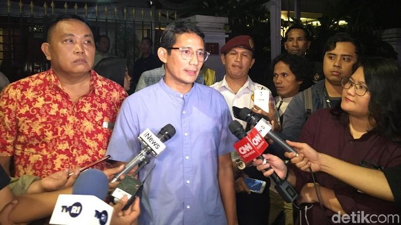 Usai Bertemu Prabowo, Sandiaga Minta Pendukung Tak Datang ke MK
