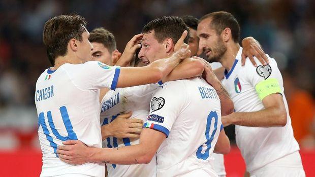 Timnas Italia kini jadi salah satu tim kuat di Grup J.