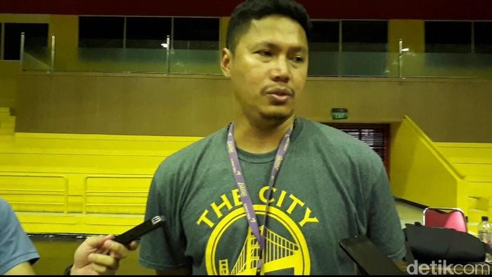 Pelatih Timnas basket Indonesia, Wahyu Widayat Jati (Mercy Raya/detikSport)