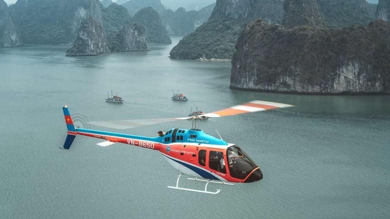 Wisata menggunakan helikopter di Ha Long Bay (Bell Flight/CNN)