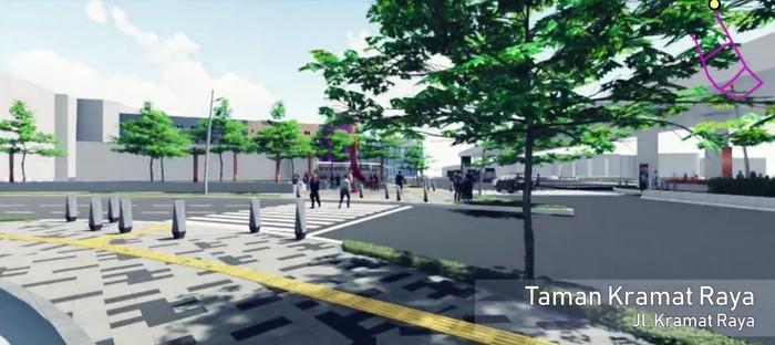 Foto: Rencana revitalisasi trotoar Cikini - Kramat Raya (Youtube Bina Marga DKI)
