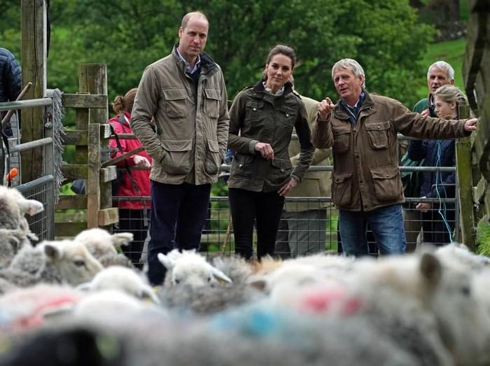 Pangeran William dan Kate Middleton saat mengunjungi Cumbria, Inggris. (Foto: Getty Images)