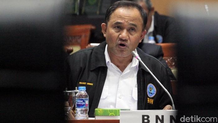 Ketua KPK Agus Rahardjo dan Kepala BNN Komjen Pol Heru Winarko menyambangi gedung DPR. Kedatangan mereka untuk menghadiri rapat bersama Komisi III DPR.