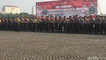 Polri-TNI Gelar Apel Pengamanan Sidang Gugatan Pilpres di Monas