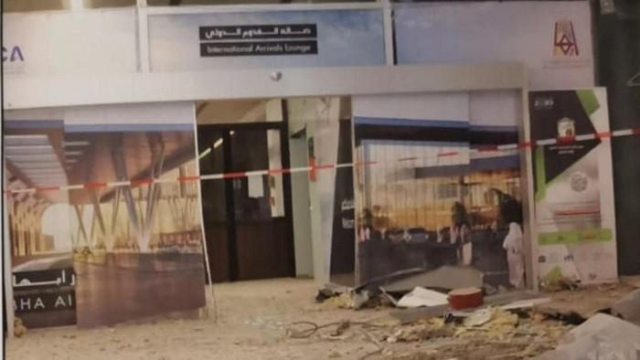 Bandara Abha di Arab Saudi yang dirudal (Foto: Reuters)