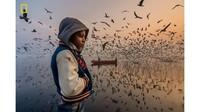 Lalu ada foto bernama Mood oleh Navin Vatsa yang juga meraih penghargaan kehormatan di kategori People (Navin Vatsa/National Geographic/CNN)