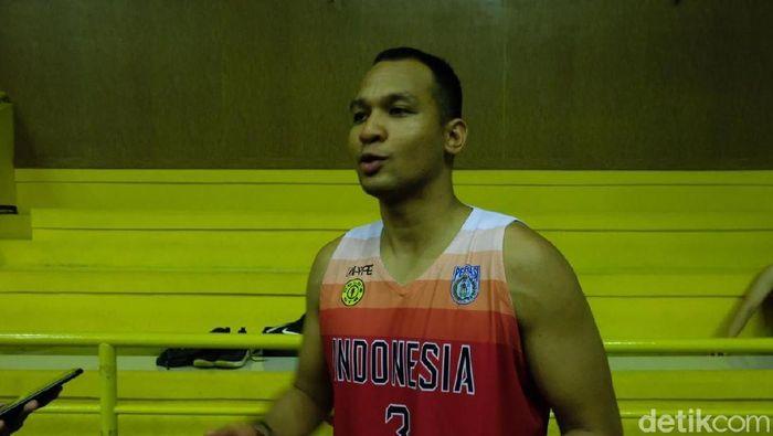 Kaleb Ramot Gemilang berharap pemain naturalisasi berkontribusi signifikan untuk emas SEA Games 2019. (Mercy Raya/detikSport)