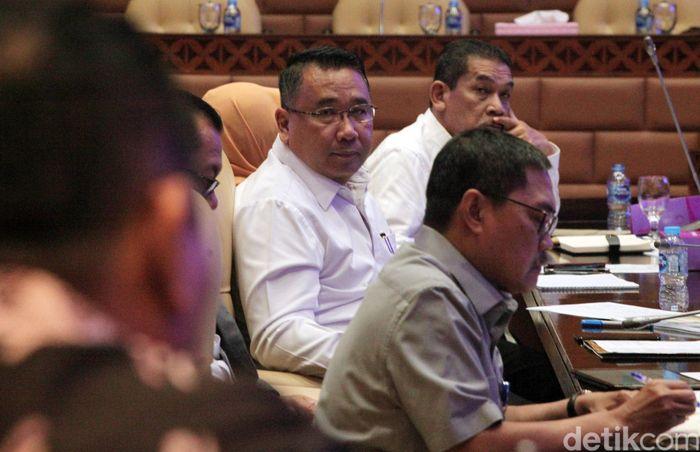 Kedatangan Mendes PDTT Eko untuk menghadiri rapat kerja bersama Komisi V DPR.