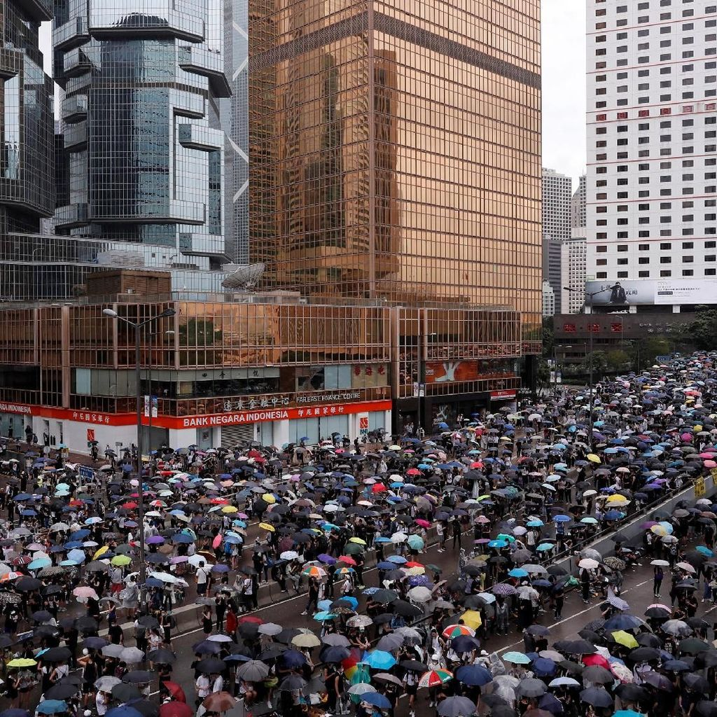 Inggris Larang Penjualan Gas Air Mata ke Hong Kong Pascademo RUU Ekstradisi