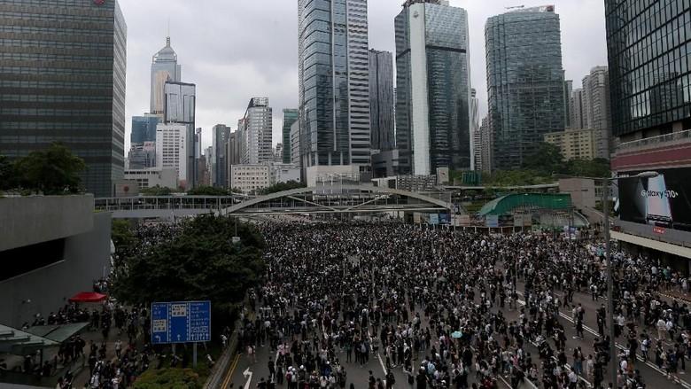 Aksi Demo di Hong Kong (Reuters)