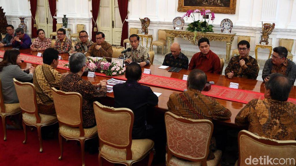 Erick Thohir Hingga Wishnutama Temui Jokowi di Istana