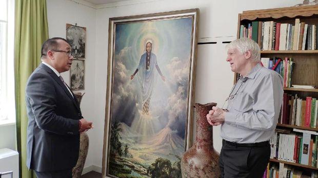 Bunda Maria Berbalut Busana Jawa di Lukisan Maestro Basoeki Abdullah