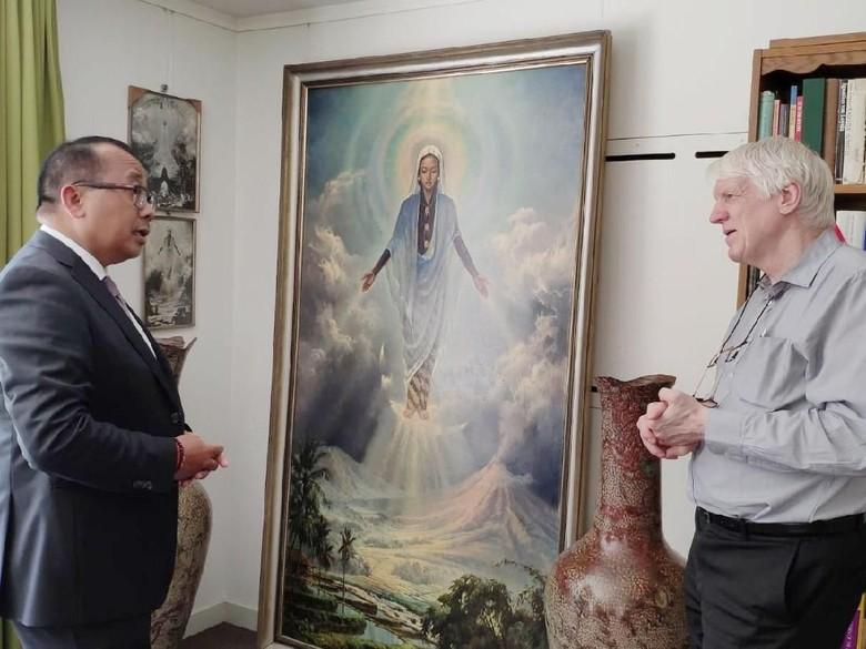 Disimpan di Gudang, Lukisan Bunda Maria Jawa dalam Kondisi Baik Foto: KBRI Den Haag/ Istimewa