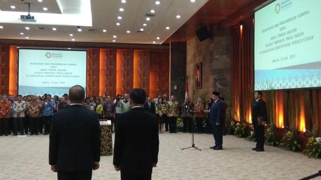 Menteri Perindustrian Lantik 4 Pejabat Eselon I Baru