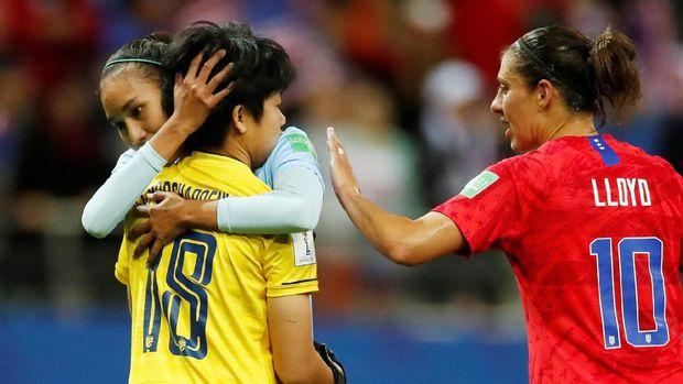 Timnas wanita Thailand dapat pengalaman buruk di laga perdana mereka di Piala Dunia Wanita.