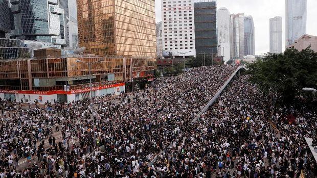Aksi Protes RUU Ekstradisi Hong Kong /