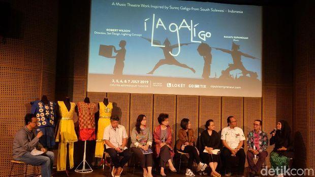 Kerja Keras di Balik Layar Pertunjukan Kelas Dunia 'I La Galigo'