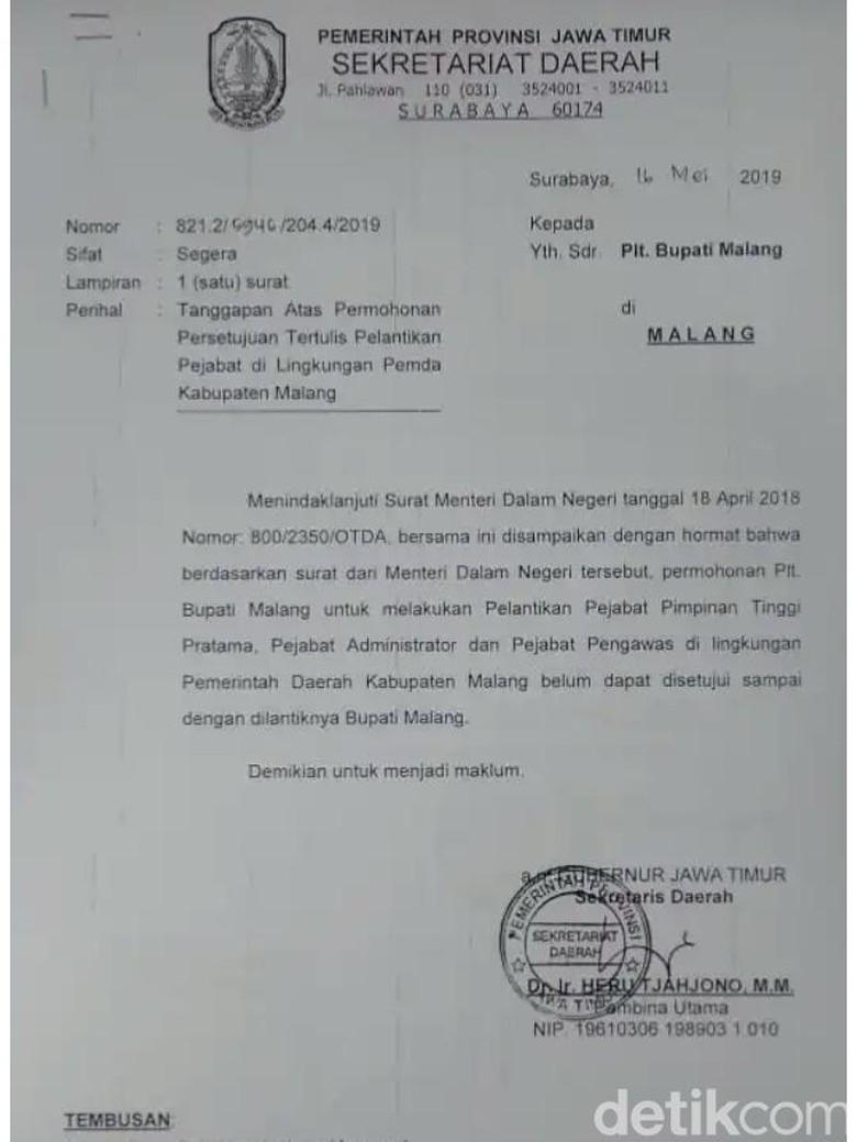 Mutasi Ratusan Pejabat Pemkab Malang Dinilai Ilegal