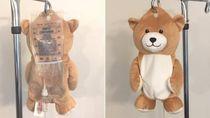 Bantu Pasien Anak, Bocah 12 Tahun Ciptakan Kostum Boneka Lucu untuk Infus