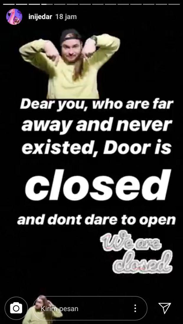 Tulis Sebuah Pesan 'Pintu Tertutup', Jessica Iskandar Sindir Ludwig?
