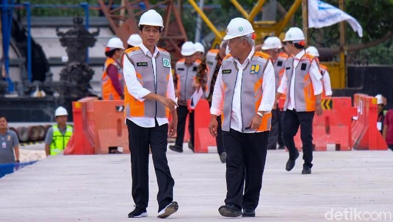 Tinjau Waduk Muara Nusa Dua, Jokowi: Akhir Tahun Ini Selesai