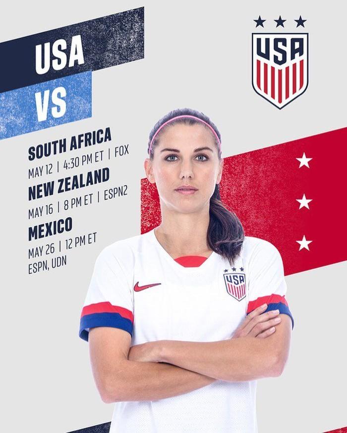 Bernama lengkap Alexandra Patricia Morgan Carrasco. Wanita cantik ini adalah pemain tim nasional sepakbola wanita Amerika Serikat. Beberapa waktu lalu juga berpengaruh di dunia versi Times. Foto: Instagram@alexmorgan13