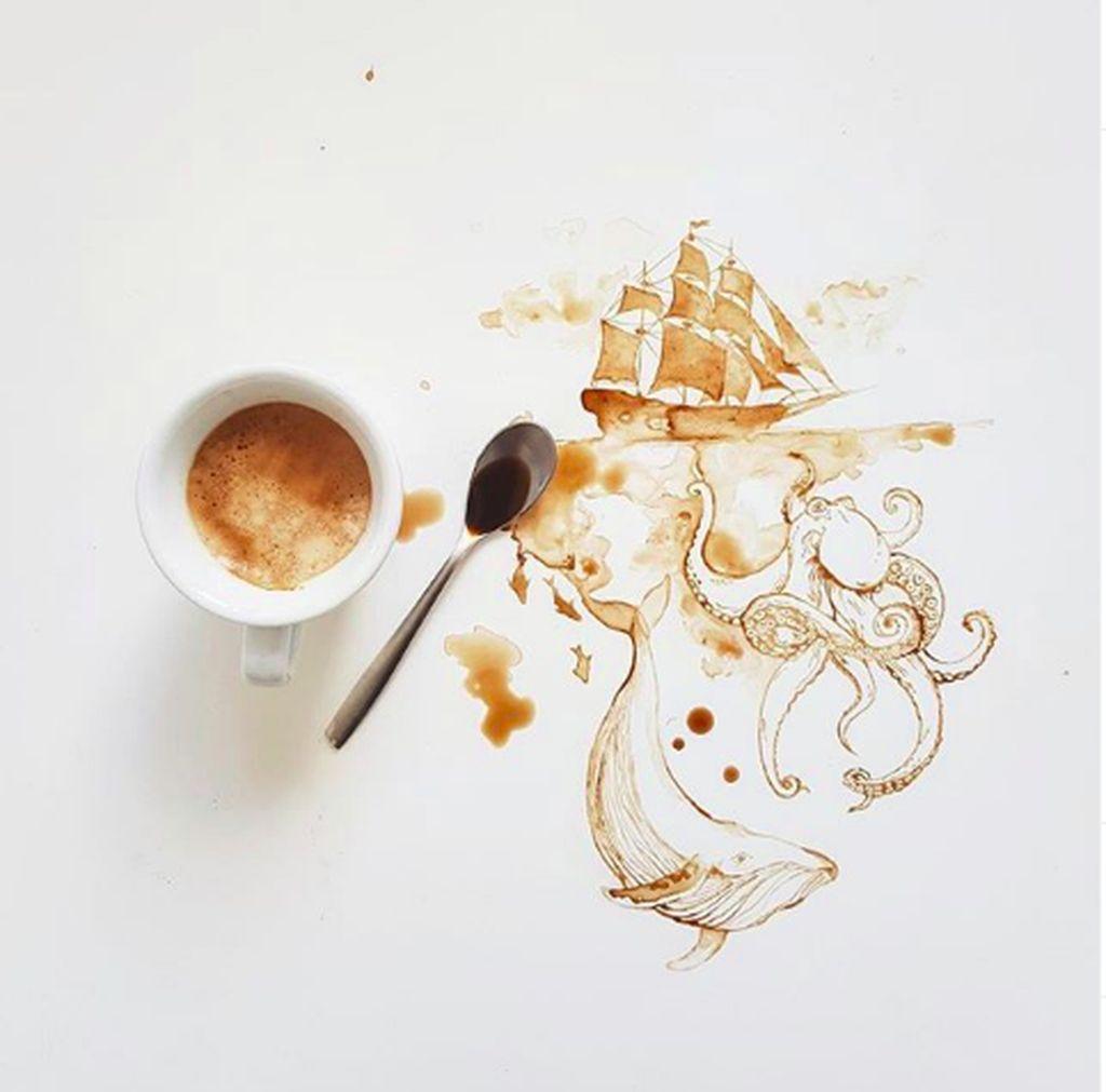 Sosok penghasil karya iniadalah Giulia Bernardelli, seniman lukis asal Italia. (Foto: Instagram/bernulia)