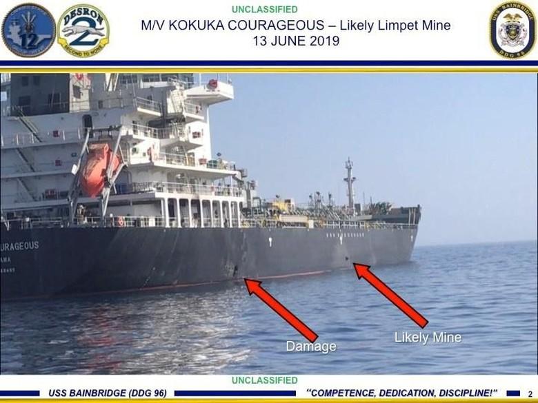Trump Tuduh Iran Dalangi Serangan Kapal Tanker di Teluk Oman