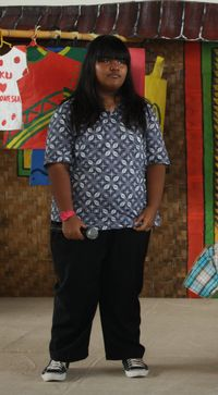 Penampilan Edsa Estella yang dibully mirip gajah karena berat badannya 107 kg