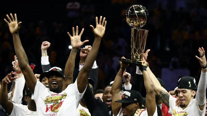 Toronto Raptors juara NBA 2018-2019. (Foto: Ezra Shaw / Getty Images)