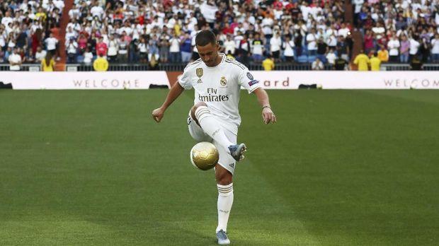 Eden Hazard resmi diperkenalkan sebagai pemain Real Madrid.