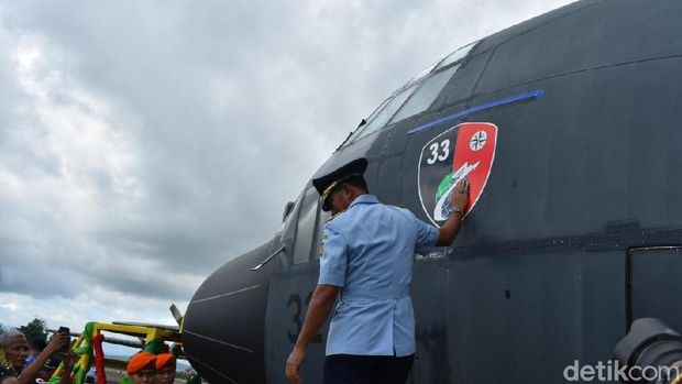 Selain Skadron 33 Makassar, KSAU juga meresmikan Skadron 27 Biak, Papua