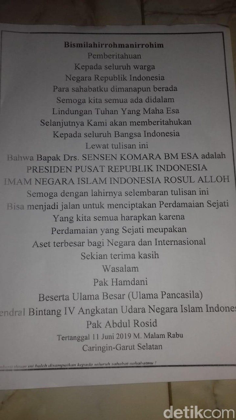 Pembuat Surat Sensen Presiden Republik Indonesia Akhirnya Kena Batunya