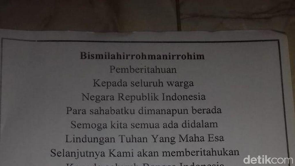 Polisi Selidiki Pembuat Surat Sensen Komara Presiden Indonesia