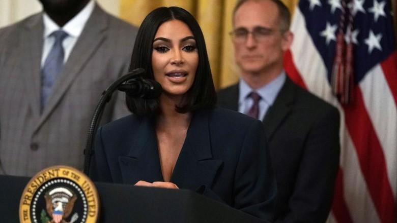 Kim Kardashian dalam kunjungan ke Gedung Putih Foto: Getty Images, AFP
