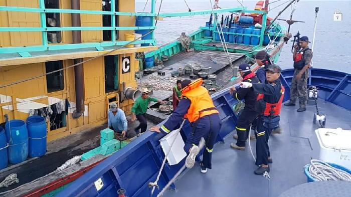 Foto: Kapal ikan berbendera Malaysia yang ditangkap KKP (ist)