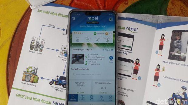 Aplikasi Rapel untuk kelola sampah