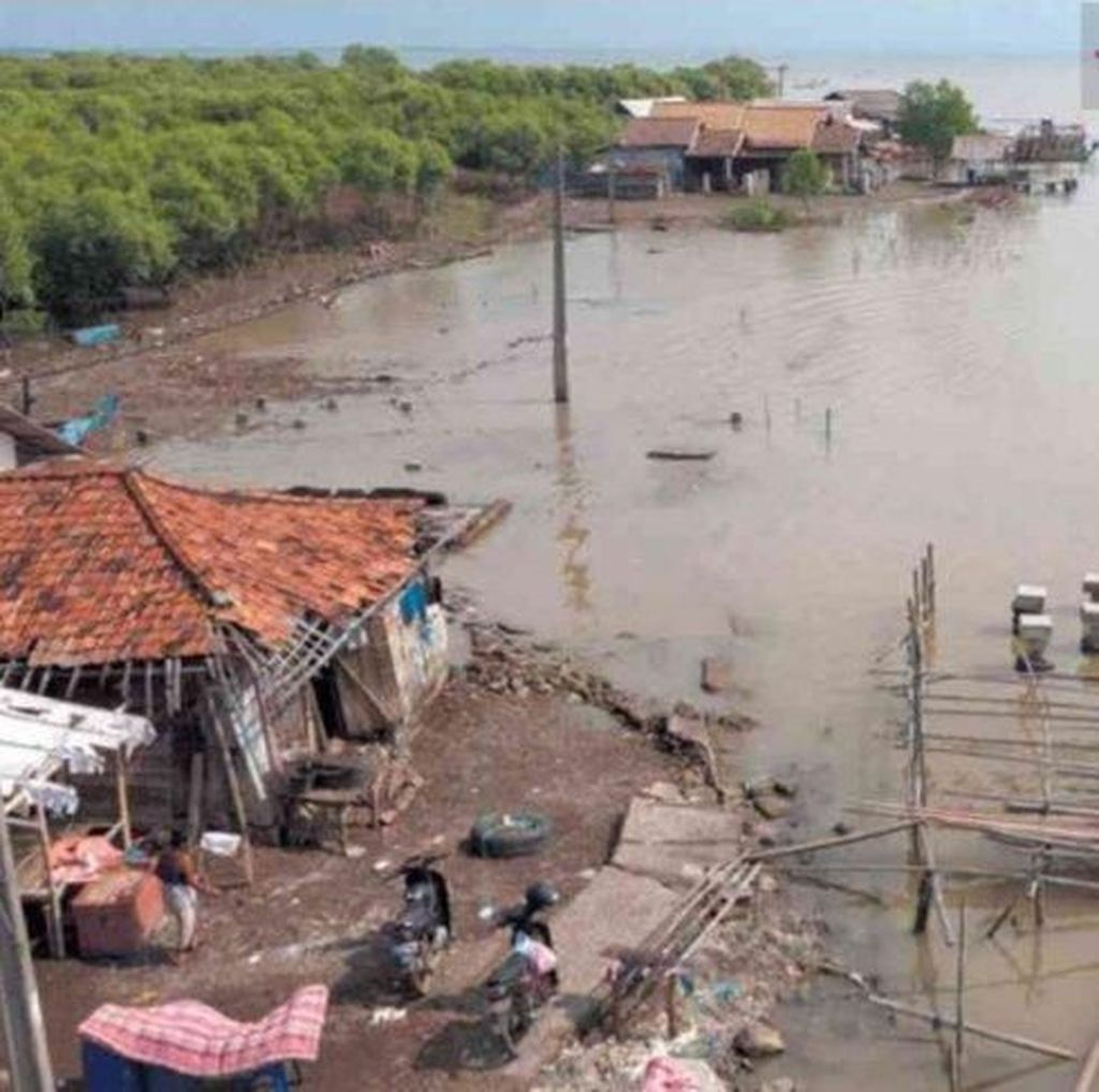 Puluhan Rumah di Bekasi Rusak Akibat Abrasi