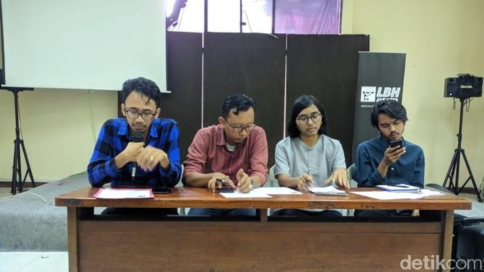 YLBHI dan LBH Jakarta berencana gugat tim asisten hukum bentukan Wiranto. (Foto: Jefri/detikcom)